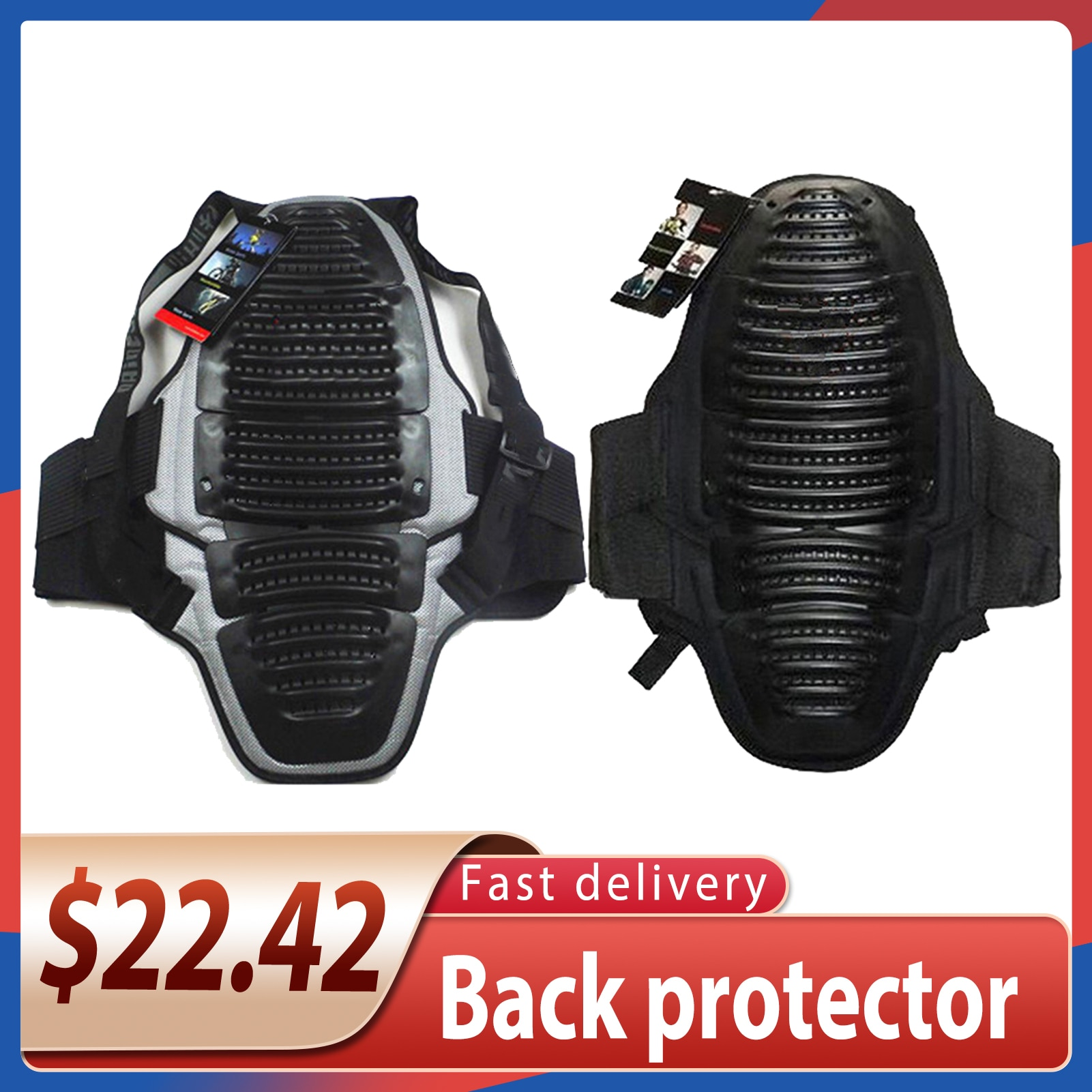 Motorcycle Adults Knight Back Protector Professional EVA Armor Riding Sports Protection Anti-fall Bicycle Spine Detachable 2021