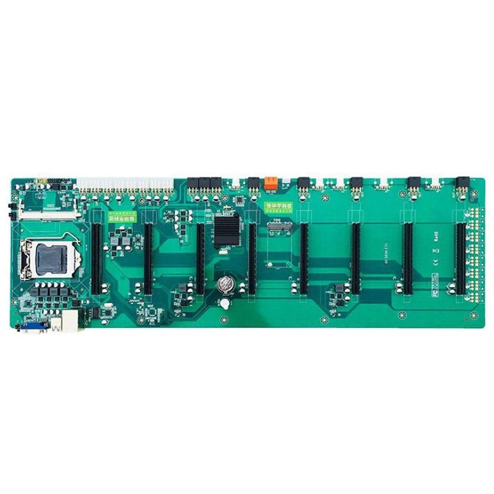 BTC-B85 ETH مينر اللوحة ل وحدة المعالجة المركزية مجموعة 8 فيديو فتحة للبطاقات ل DDR3 الذاكرة المتكاملة VGA واجهة منخفضة الطاقة