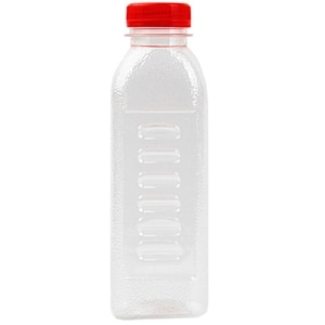 10Pcs 400Ml Disposable Plastic Empty Bottles Transparent Bottles with Scale