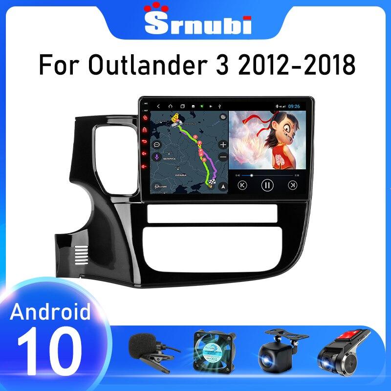 Srnubi أندرويد 10 راديو السيارة لميتسوبيشي أوتلاندر 3 GF0W GG0W 2012 - 2018 مشغل فيديو الوسائط المتعددة 2 din 4G FM واي فاي ستيريو دي في دي