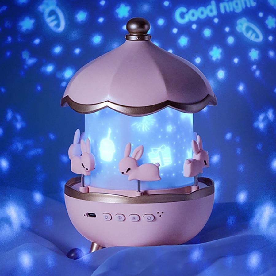 سمّاعات بلوتوث كشاف ضوء النجوم قابل للتدوير قابلة للشحن ضوء الليل كامل لمبة مكتب النجوم هدية للأطفال الخيال أوكتافو الصوت