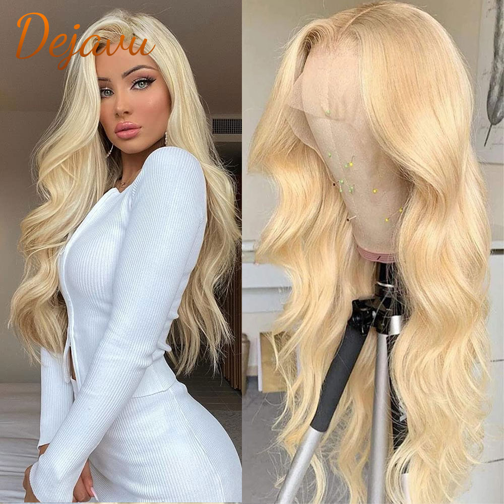 613 Blonde Lace Front Body Wave Wigs 13x4 Lace Frontal Wig Human Hair Wigs Preplucked Hairline 100%