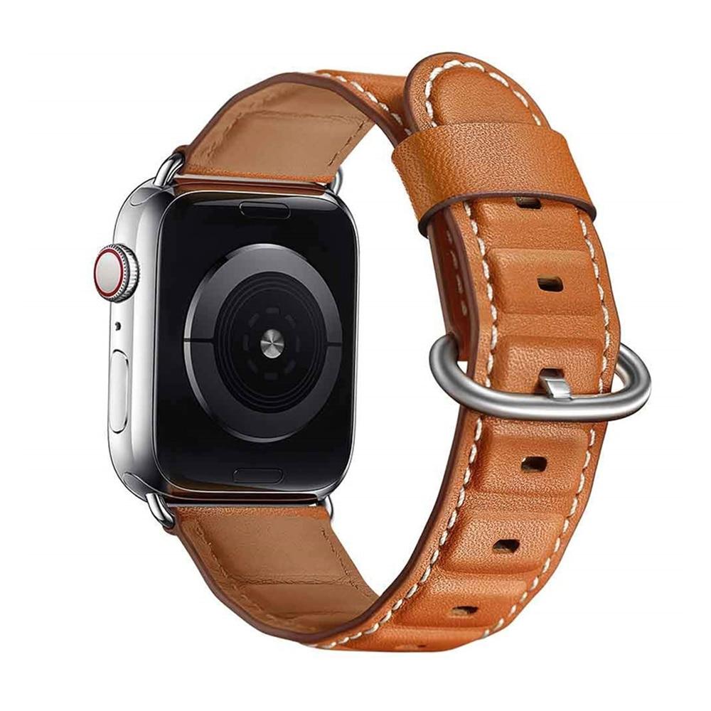 for apple watch leather band 44mm iwatch band 38mm 42mm 40mm strap genuine leather bracelet belt watchband aw series 4 3 2 1 44 Genuine leather strap for apple watch band 44mm 42mm 38mm 40mm iwatch series SE 6 5 4 3 2 bracelet clock watchband belt