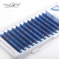 12 rows ombre multi color eyelash extension natural silk mink beauty colors eyelashes 2 tones cilios eye lashes makeup tools
