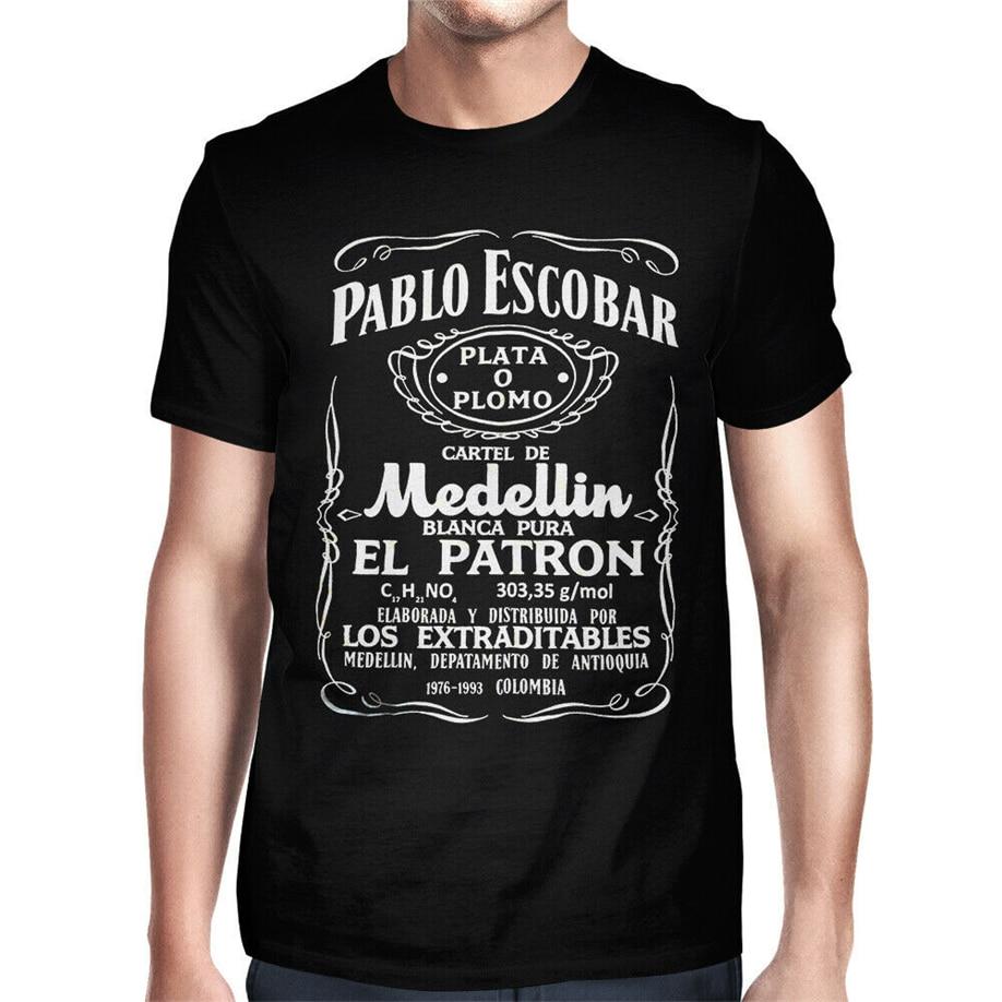 Camiseta estampada de Pablo Escobar para hombre, camisa de Plata O Plomo...