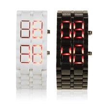 OUTAD mode hommes femmes lave fer samouraï en plastique bracelet-montre LED montre-bracelet sport Style relogio