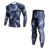 men compression sportswear suits gym tights training clothing training jogging sports set running tracksuit dry fit plus size