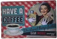 aiqibao metal tin sign vintage wall decor coffee for funny kitchen food bar pub 12x 8