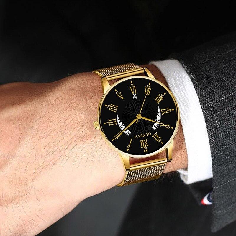 2021 модные популярные Saati тенденции ультра-тонкие часы с ремешком-сеткой элитные мужские модные вещи для мужчин; Повседневные деловые кварце...