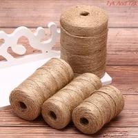 50m80m100m handmade hemp linen cords rope to tie burlap twine rope string diy craft decoration cuerda yute corde chanvre