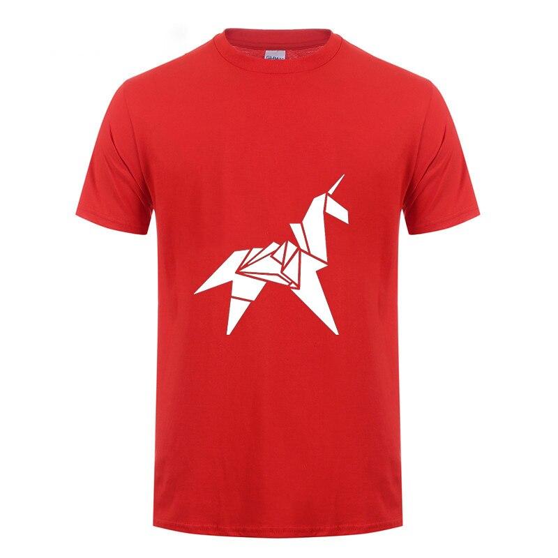 Camiseta de unicornio de origami para hombre y mujer, camiseta de manga corta de algodón con réplicas de películas retro blade runner, camisetas de verano