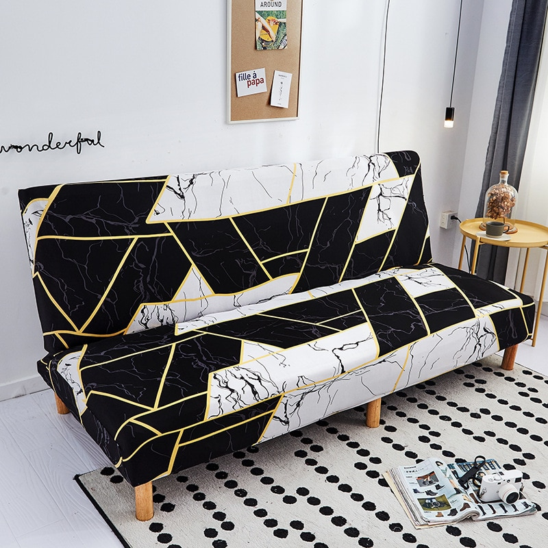 Funda de sofá elástica moderna para sofá sin brazos fundas chaise longue fundas desmontables funda de sofá de envoltura apretada Protector de muebles