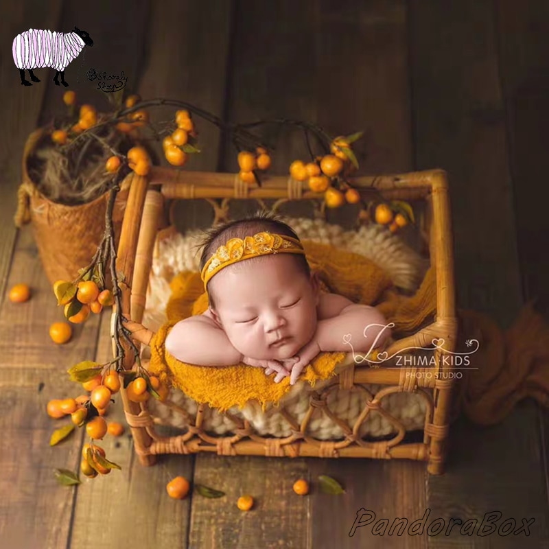 Handmade Mini Baby Bed Newborn Photography Props Infant Photo Shoot Studio Posing Basket bebe fotografia Accessories Photo Props