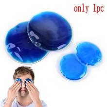 Диаметр 7 см круглый многократного использования мешок для льда, облегчение тепловой боли, для холодной и горячей терапии, микроwaveable гелевая упаковка маска 1 шт.