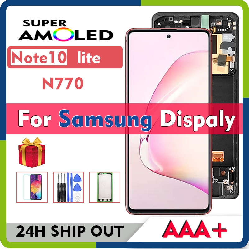 Original SUPER AMOLED For Samsung Galaxy Note10 lite N770 SM N770F DS DSM Display With Touch Screen Digitizer Assembly 6.7 inchs