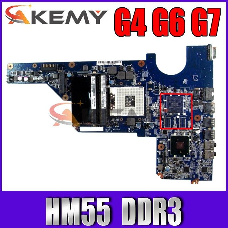 عالية الجودة ل HP G4 G6 G7 اللوحة المحمول 636370-001 DA0R12MB6E0 HM55 PGA989 DDR3 100% اختبار سريع السفينة