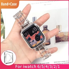 Newest Strap for Apple Watch Band Series 6 SE 5 4 321 Transparent for Iwatch bracelet 38mm 40mm 42mm