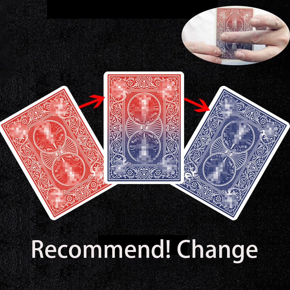 Recommend! Change by Lloyd Barnes -Color Changing Poker Card Magic Tricks Close Up Magia Mentalism Illusion Gimmick Props Magie digital dissolve morgan version magic tricks stage close up magie coin visually change magie gimmick props trucos de magia