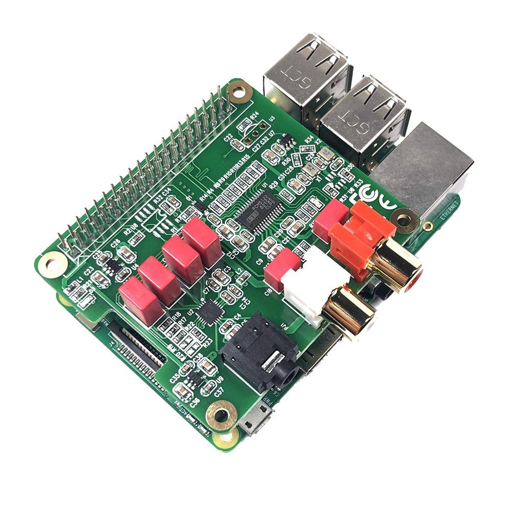 Módulo PCM5122 Durable Mini HiFi DAC 384KHZ tarjeta de expansión de sonido reproductor de música tarjeta de Audio sombrero de 32 bits para Raspberry Pi 3B