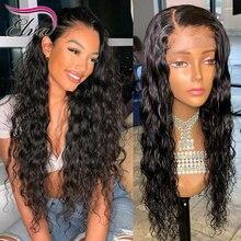 360 peruki typu lace front dla czarnych kobiet Elva włosy wstępnie oskubane linii włosów z dzieckiem włosy naturalne fale 360 koronka z przodu peruki Remy włosy