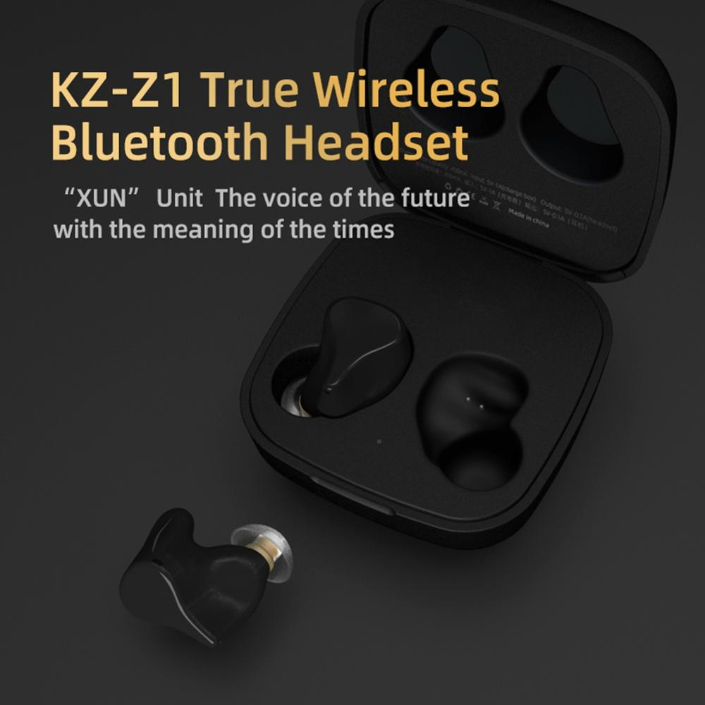 KZ Z1 True Wireless Bluetooth casque Binaural bouchons doreilles dans loreille petit sport en cours dexécution 5.0 universel longue veille vert