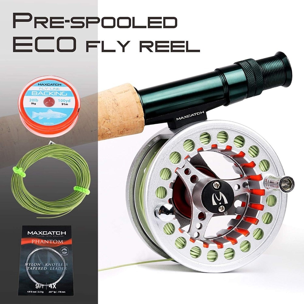 Maximumcatch 9FT 5/6/7/8WT 7pcs Traveler Fly Fishing Rod Combo Graphite IM10/30T+36T Carbon Fiber Fly Rod with Fly reel Combo enlarge