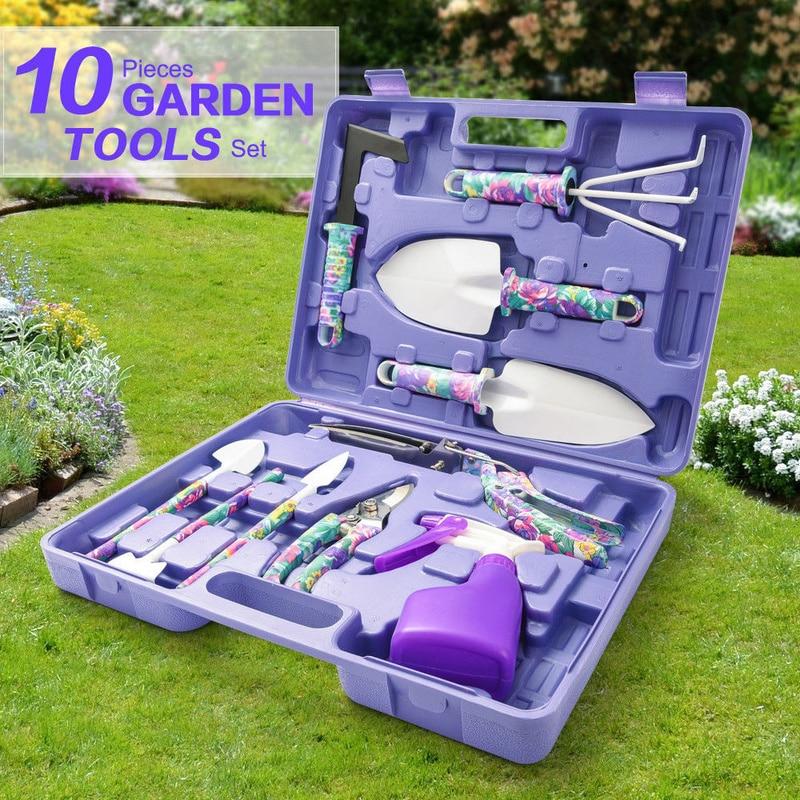 Фото - 5/10pcs Garden Tools Set Lightweight Gardening Tools Kit Bonsai Tools Non-slip Handle Garden Hand Tools Garden sunex tools
