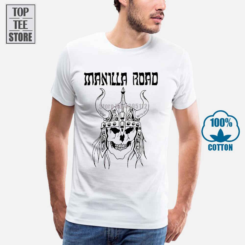 Camiseta roja con logotipo vikingo de Manilla Road