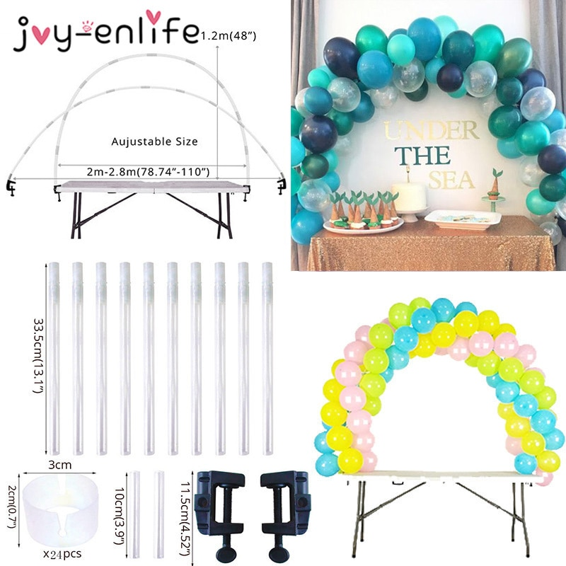 Adjustable Table Balloon Arch Kits DIY Birthday Party Wedding Decoration Balloons Column Stand Baby Shower ballon Accessories