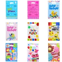 1020pcs happy birthday letter plastic candy packaging bags candy biscuit gift bags for birthday party decoration supplies