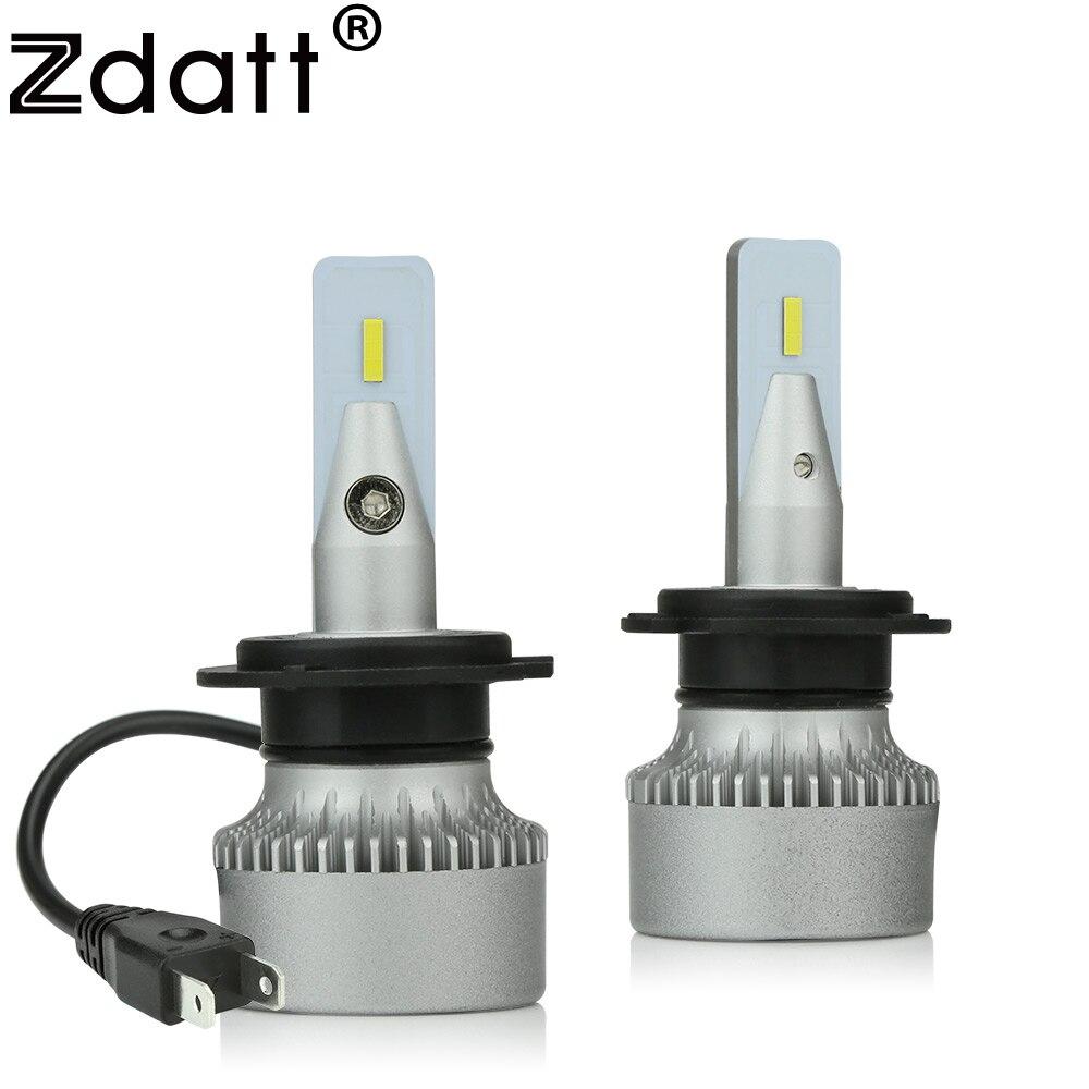 Zdatt H11 led H7 HB3 HB4 H8 H4 светодиодные лампы лампочки на авто 9005 9006 Противотуманные фары 12000LM 100W 6000K 12V Светодиодная лампа для супер светодиодный лам...