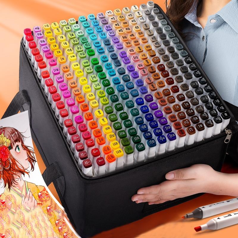 TouchFIVE 30/40/60/80/168 Colors Markers Manga Sketching Markers 168 Dual Brush Pen Alcohol Felt Art School Supplies Drawing Set