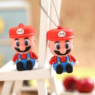 USB 3,0 3D de dibujos animados Super Mario Mini lápiz de memoria USB Tarjeta de Pen Drive 8GB 16GB 32GB unidad de memoria flash de 64GB y 128GB 1TB 2TB regalo