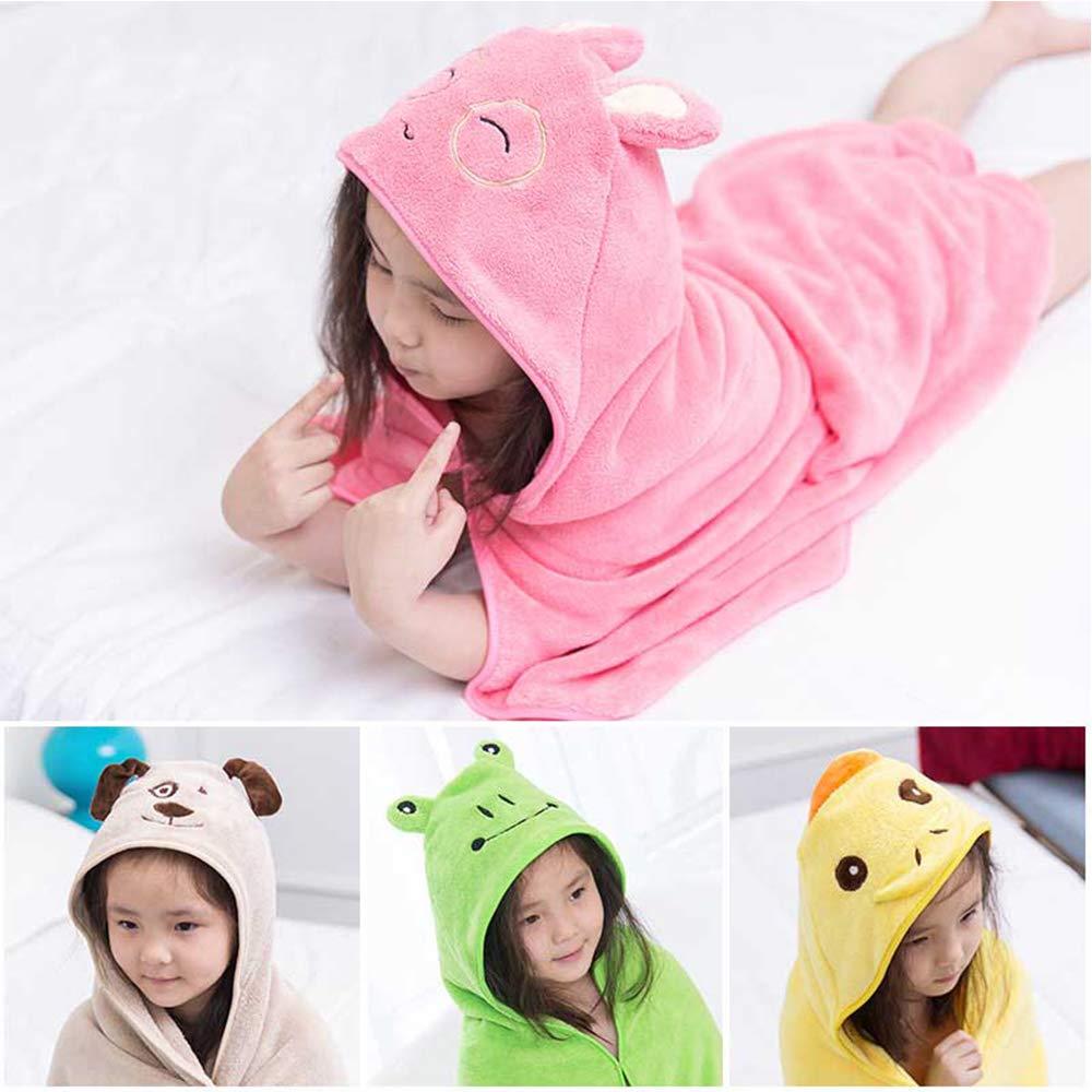 Детское банное полотенце с рисунком Милого Животного, детское полотенце с капюшоном, банный халат, накидка, детское одеяло для приема новор...