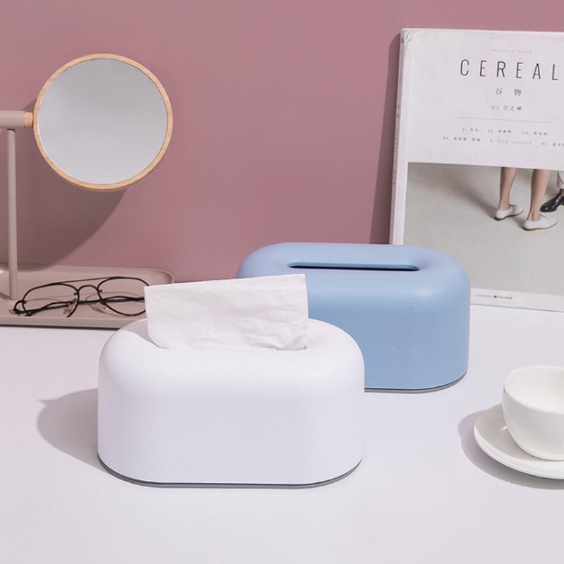 Cajas de pañuelos nórdicas INS, toallitas de plástico ovaladas, toallitas multifuncionales impermeables, caja de almacenamiento de papel, servilletas, organizadores de barril