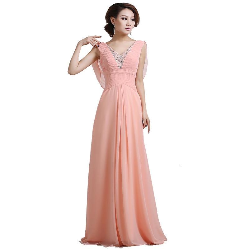 Изящные розовые длинные вечерние платья, платья для выпускного вечера на молнии, с открытой спиной, с бусинами, вечерние платья, платья для о...