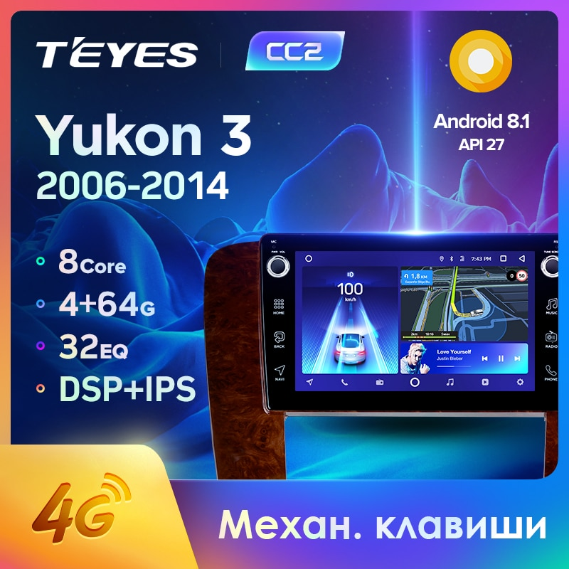 TEYES CC2 para GMC Yukon 3 GMT 900 2006-2014 auto Radio Multimedia reproductor de Video GPS de navegación Android 8,1 No 2din 2 din dvd