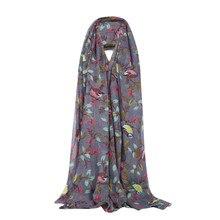 2020 autumn Winter new  Winter  Women Lady Warm Fashion Birds Trees Pattern  Scarf Wrap Shawl Long Scarf Thin scarves scarf#O24
