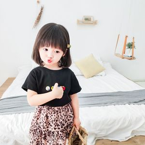 Summer Mommy and Daughter T-shirts Cartoon Korean Short Sleeve Tops Matching Family Outfits Shirts Mother and Daughter Clothes