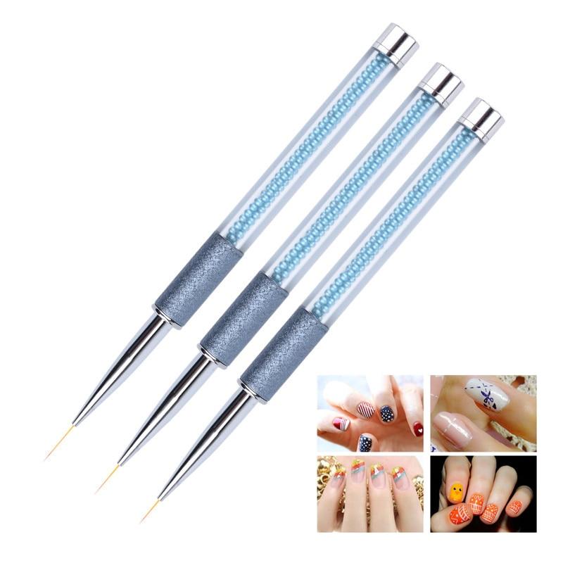 Профессиональная подводка для дизайна ногтей, 1 шт., кисть для рисования, ручка, 6 мм/8 мм/10 мм, элегантные жемчужные ручки, нейлоновые щетинки, ...