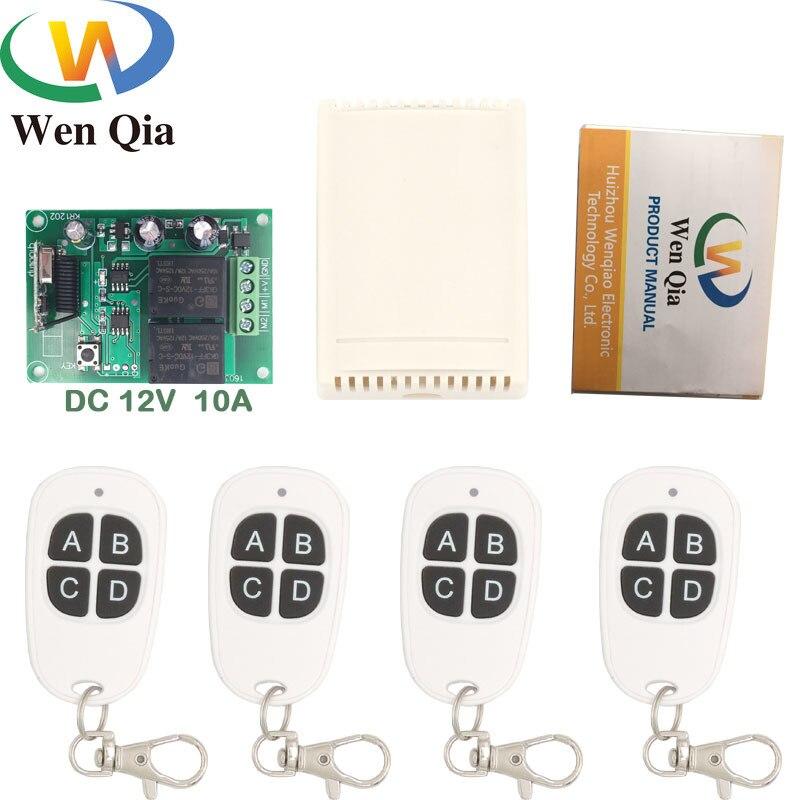 Control remoto Universal de 433MHz DC 12V 10A 2CH receptor de relé rf y transmisor para cortina eléctrica y controlador de puerta de garaje