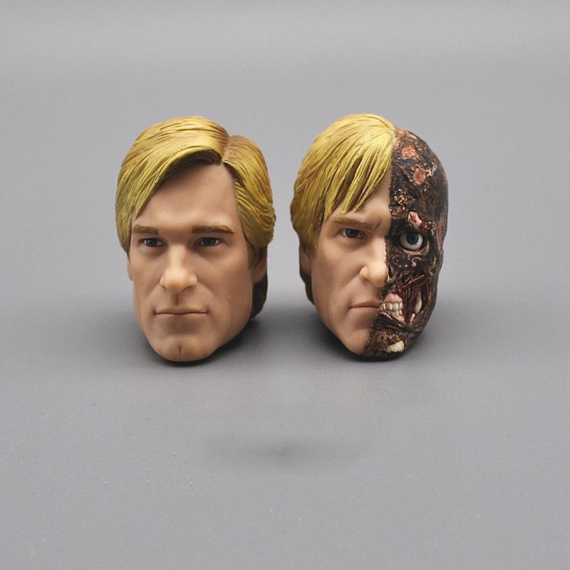 "Juguete modelo de dos cabezas, escala 1/6, hombre Batman Megamind, cabeza de dos caras, hendidura, cabeza esculpida para el cuerpo de figura de acción de 12"""