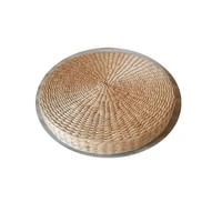 40cm natural straw weaving round floor cushions pouf tatami futon meditation cushion seat mat floor yoga