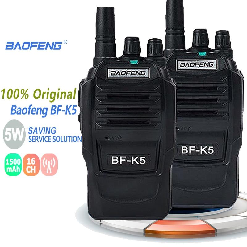 Новинка, портативная рация Baofeng BF-K5 Talkie 5 W UHF, портативная Любительская рация BFK5 Comunicador K5 Ham, радиостанция, удобные напольные сканеры, 2 шт.