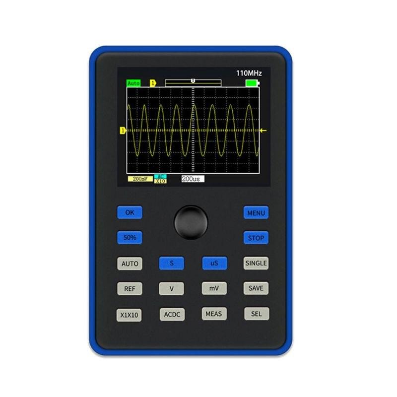 DSO1C15 2.4 Inch LCD Display Screen Handheld Digital Oscilloscope 500MS/s Sampling Rate 110MHz Analog Bandwidth