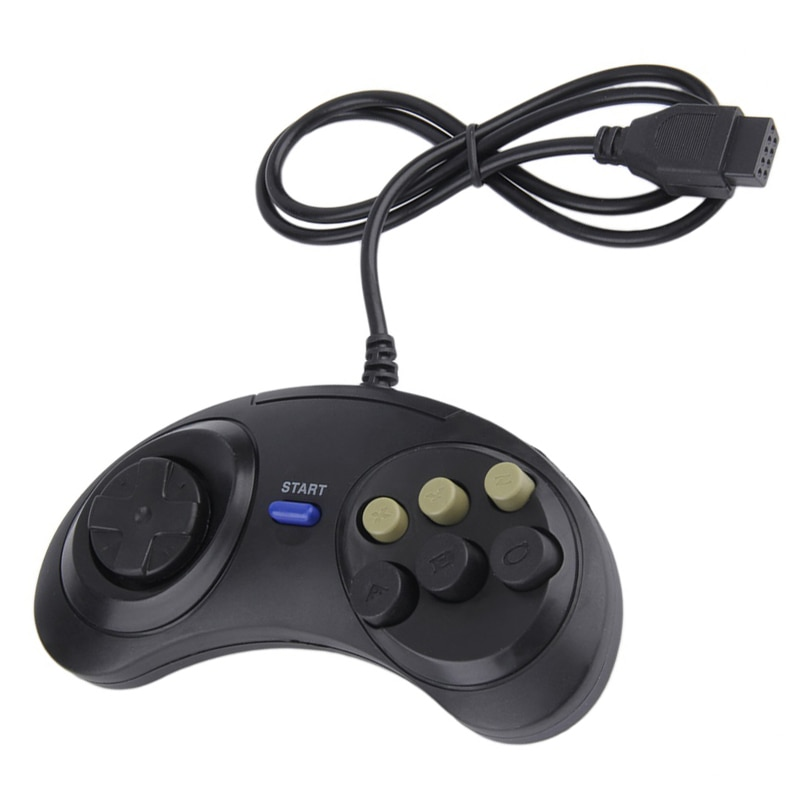 Mando con cable clásico para SEGA MD2 PC Mega Drive, 6 botones,...