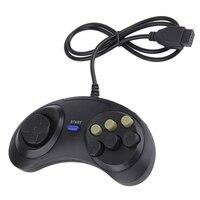 Классический проводной 6 кнопок Ручка джойстика игрового Управление; Для SEGA MD2 ПК игры SEGA Mega Drive игровые аксессуары универсальный пульт дист...