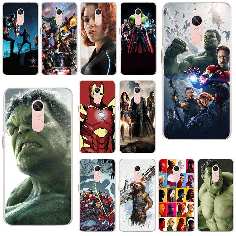 Marvel vengadores escudo suave TPU caja del teléfono de silicona para Xiaomi rojo mi nota 4X2 3 3S 4A 5 6 5S 5X 5A 6X Pro Plus Coque Shell