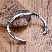 black cuff punk bangle bracelet vintage simple leather bracelet men wristband bangles male trendy jewelry fashion gift