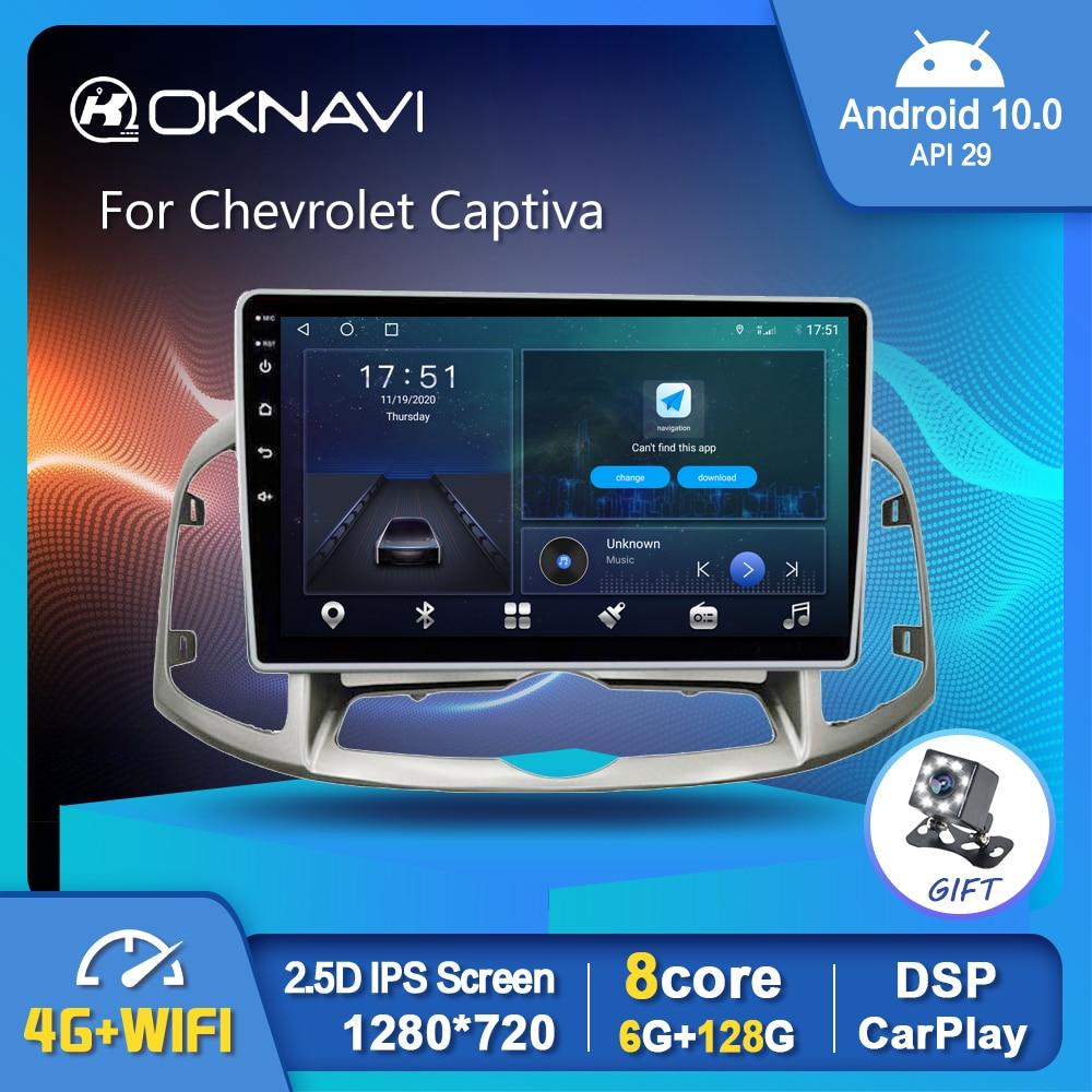 OKNAVI Android 10,0 Car Radio reproductor de vídeo para Chevrolet Captiva 2012-2013...